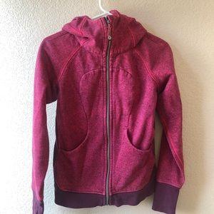 Lululemon scuba hooded sweater pink Sz 6